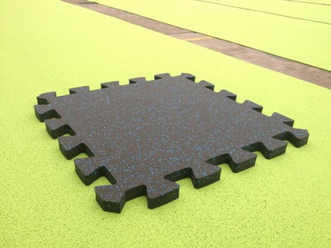 EPDM Sparkles Rubber Workout Flooring . Shooting Room Rubber Gym Tiles 30mm 50mm