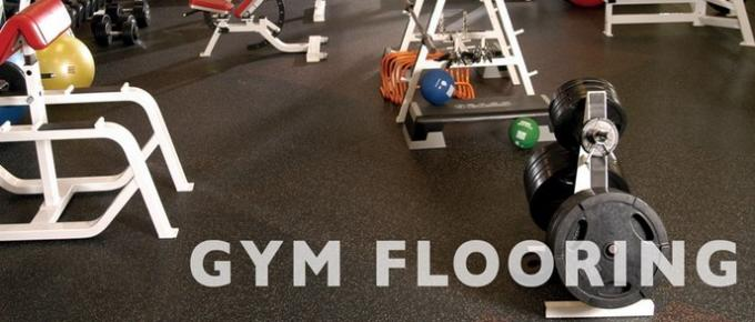 Custom Printed Rubber Weight Room Flooring , Rubber Floor Covering For Gyms