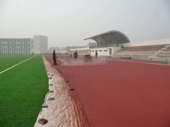Water Permeable EPDM Running Track Playground Rubber Flooring Weather Resistance