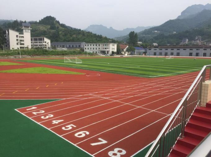 All Weather 13mm Rubber Gym Flooring Prefabricated Athletic Running Track