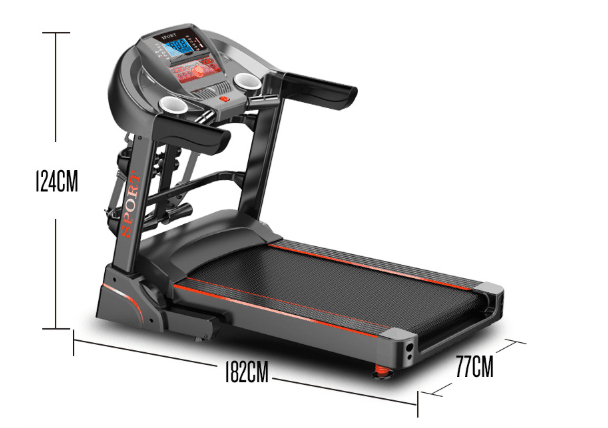USB Connection Commercial Grade Treadmills Fitness Apparatus Easily Folded
