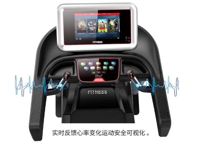 Low Noise Commercial Grade Treadmills With Shock Absorption Humanized