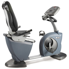China Fixed And Scroll Display Recumbent Stationary Exercise Bike Gym Equipment 83.5kg supplier