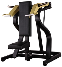China Seated Shoulder Press Machine , Solid Steel Hammer Strength Gym Equipment supplier