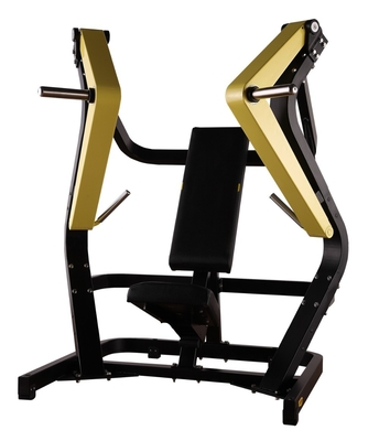 China Yellow Black Decline Chest Press Machine , Hammer Strength Fitness Equipment supplier