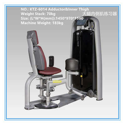 China Adductor Inner Thigh Workout Machine , Commercial Cardio Fitness Equipment supplier