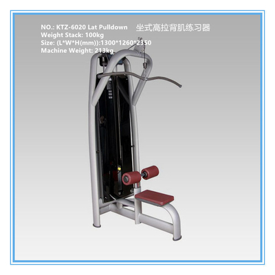 China Two Layer Coated Cardio Workout Equipment , Plate Loaded Lat Pulldown Cable Machine supplier