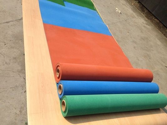 China Exercise Room Heavy Duty Gym Flooring Rolls , Coloured Rubber Athletic Flooring Matting supplier