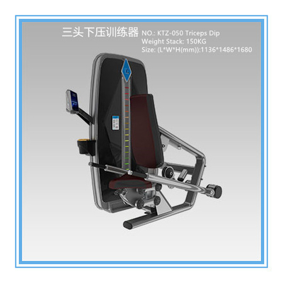 China Professional Commercial Exercise Equipment For Biceps And Triceps 1051*1541*1680mm supplier