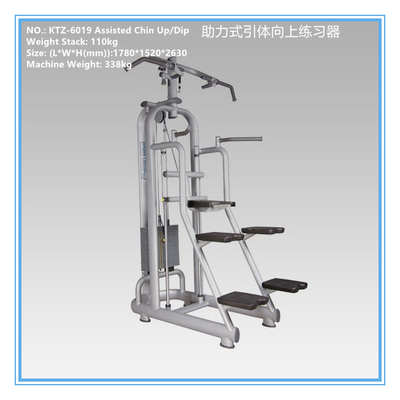 China Fitness Center Aerobic Exercise Equipment Chin Up Dip Assist Machine OEM Accepted supplier