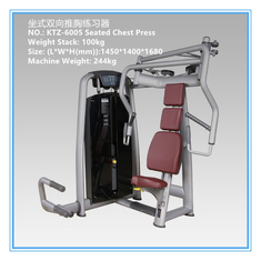 China Commercial Pin Loaded Gym Equipment , Chest Press Equipment Vapour Pressure Type supplier