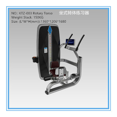 China Plate Loaded Rotary Torso Fitness Equipment , Gym Exercise Machines For Losing Weight factory