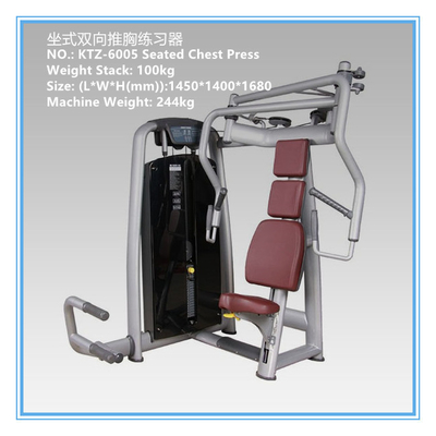 China Commercial Pin Loaded Gym Equipment , Chest Press Equipment Vapour Pressure Type distributor