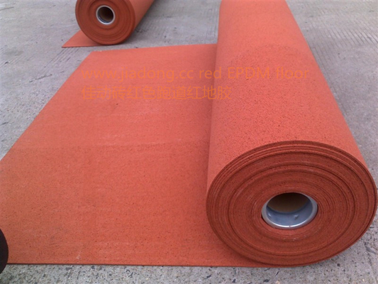 China Multipurpose Outdoor Sports Flooring Roll , Anti Slip Rubber Matting Roll Recycled distributor